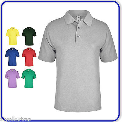 Mens Ladies Short Sleeve Polo Shirt Adults Plain Summer Casual Smart Work Wear