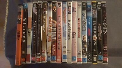 DVD MOVIE Lot x 18 - Wilfred Season 1, Angry Boys, Multiple Movies, Alfie, Jaws