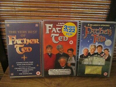 FATHER TED - three VHS Video Tapes - Best of / Series 1