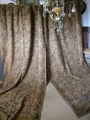 Pair French Tapestry Antique Aubusson Drapes