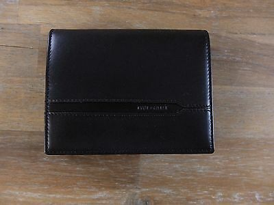 d0758dd2a50 BULGARI Roma black leather trifold wallet with chain authentic - New in Box