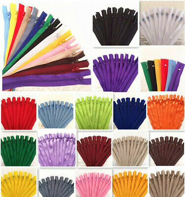 50-100pcs Nylon Coil Zippers Tailor Sewer Craft (8-20 Inch) Crafter's &FGDQRS