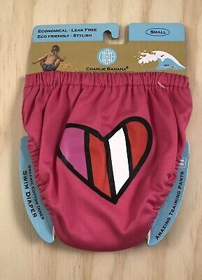 NEW Charlie Banana Reusable Swim Diapers Training Pant Hot Pink Size: Small