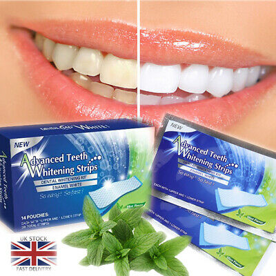 28 White Strips Home Tooth Bleaching Professional Advanced Teeth Whitening Kit