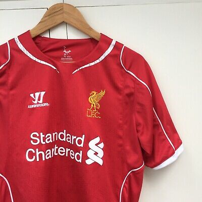 lowest price 82a66 a5a39 LIVERPOOL WARRIOR 'GERRARD' Home Football Shirt Jersey 2014/15 Large