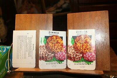 Lot of 10 1930-40s Litho Seed Packets New Bern NC Zinnia Peppermint Candy Cane