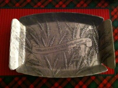 NEW! Wendall August Give Us This Day Aluminum Serving Tray Bread Matthew 6:11