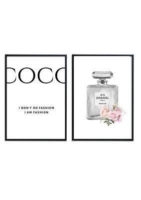 Coco Chanel Inspired Perfume Bottle A4 Print Size 210 X 297mm 250gsm
