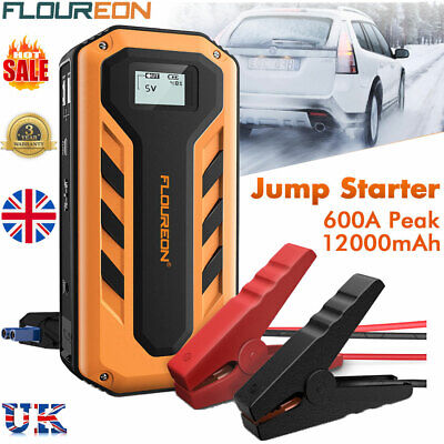 12000mAh 600A Car Jump Starter Rescue Booster Battery Charger Power Bank UK Plug