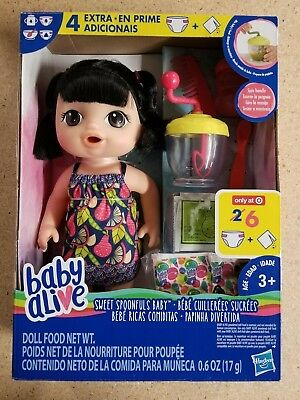 New Baby Alive Sweet doll hair food super Spoonfuls Baby (Asian)