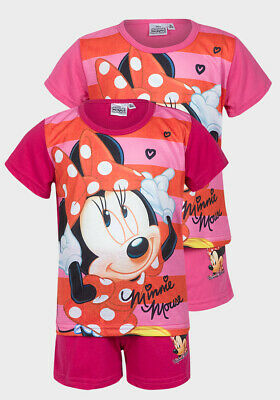 Official Disney Minnie Mouse Girls Kids Childrens Pyjamas Pajamas Pjs 3 4 5 6 8