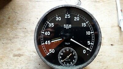 Jaguar Smiths Rev Counter With Electric Clock