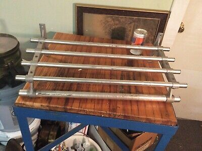 Vogel Peterson Co. Industrial Coat Rack Shelf Aluminum Mid Century Modern 1960s