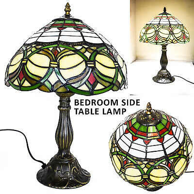 TIFFANY Style Luxury Antique Hand Craft  Multi Color Table Lamp with Zinc Base