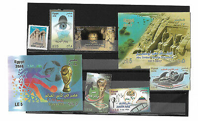 (3x)Egypt-Agypten-Egipto-M-s-r-MNH- stamps 2018 -full and complete year set (3x)