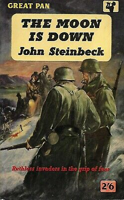 The Moon Is Down, John Steinbeck, WW2, Novel, Invasion, Norway, 1st Pan Edition