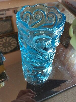 Vintage 1960's Joe St. Clair S Repeat Blue Opalescent Toothpick