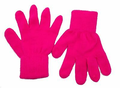 $60 Capelli Ny Kids Girls Pink Stretch Warm Acrylic Knit Winter Gloves Size 7-14
