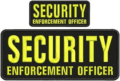 CAMPUS ENFORCEMEN Officer embroidery patch 4X10 and 2x5 hook on back blk//yellow