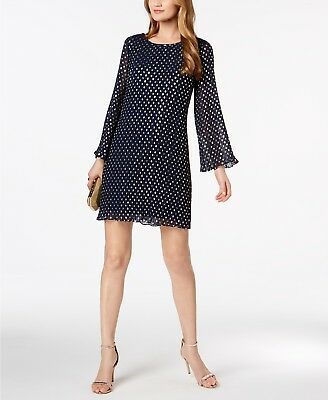 a9077c1650b6 MSK Metallic-Polka-Dot Pleated Chiffon Dress MSRP $99 Size S # 7B 347