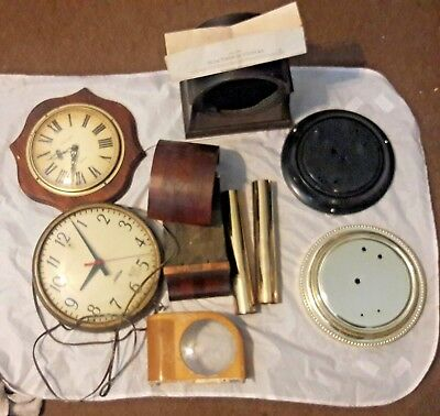 Vintage Clock Parts. For repair or parts. Sunbeam electric, battery op VERICHRON