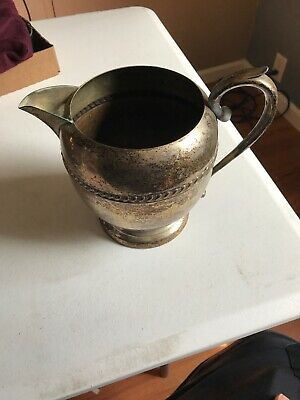Vintage Sheridan Silver on Copper  Water Pitcher