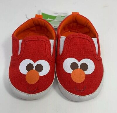 ee0581a11e5b9 SESAME STREET ELMO Infant Baby Shoe, Slip on, Red, Size 6-12M New With Tags