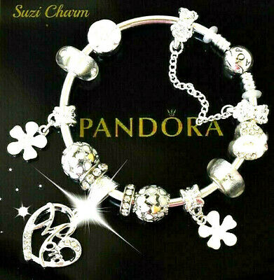 Authentic Pandora Bracelet Silver MOM MOTHER DAY LOVE European Charms New