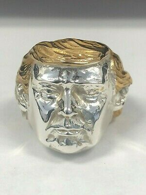 Donald Trump Sterling Silver Ring Maga 925 Election 14Kt Gold Plated New Jewelry