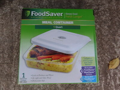 """NEW"" FoodSaver Food Saver 1 Quart Meal Container for Vacuum Sealing System"