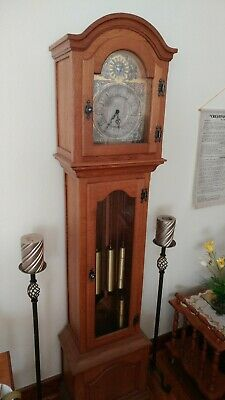 FRANZ HERMLE & SONS OAK Grandfather Clock with Westminster Chime