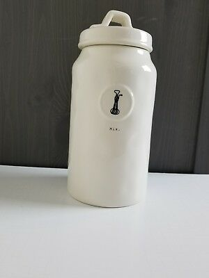 "Rae Dunn  Icon  Collection by Magenta ""Mix"" Tall Canister typewriter letters NEW"