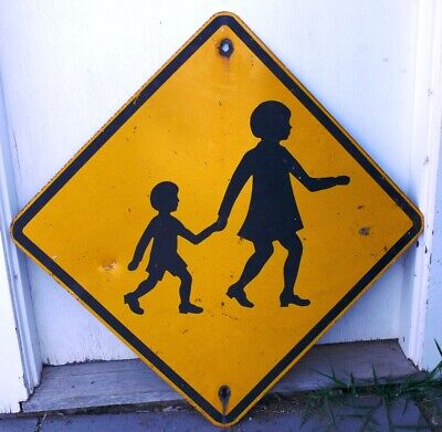 OLD TRAFFIC ROAD SIGN approx 60x60cm   suit man cave