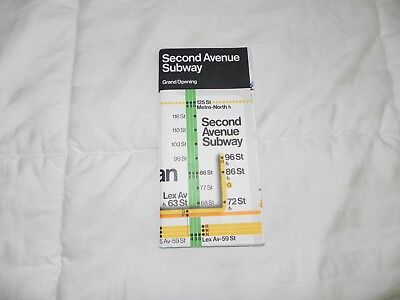 Q Second Avenue Subway Map.New York City Nyc Mta Second Ave Subway Q Train Service Guide Free