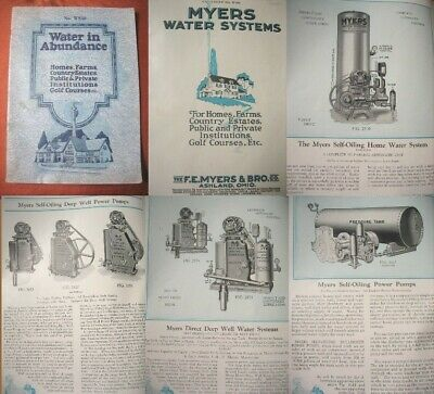1920's Myers DEEP WELL WATER PUMPS CATALOG-Golf Courses,Farms,Homes,Institutions