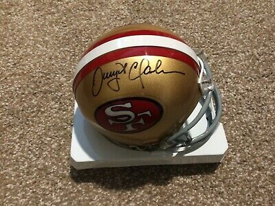 1cf3b57d6 Dwight Clark SF San Francisco 49er s 49ers Signed Authentic Riddell Mini  Helmet