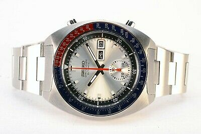 Rare Vintage Seiko 6139-6002 Pogue Day Date Chronograph Automatic Steel Watch