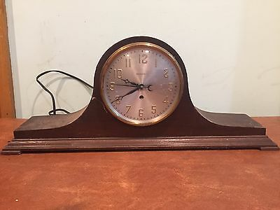 Antique Vintage Hammond Electric Tambour Mantel Clock c. 1930