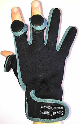 Neoprene Specialist (Fold-Back Finger Tips) Gloves by Easy Off Gloves