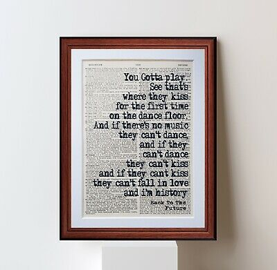 Back To The Future  Quote dictionary page art print poster literary gift quotes