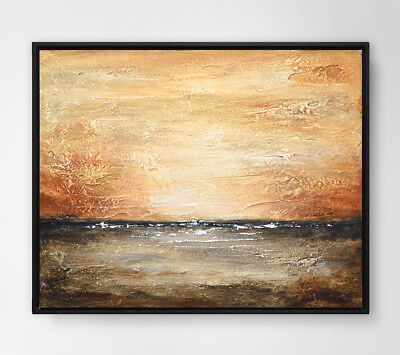 ORIGINAL LANDSCAPE PAINTING ABSTRACT TEXTURED WALL ART OIL PAINTING ~ L. Beiboer
