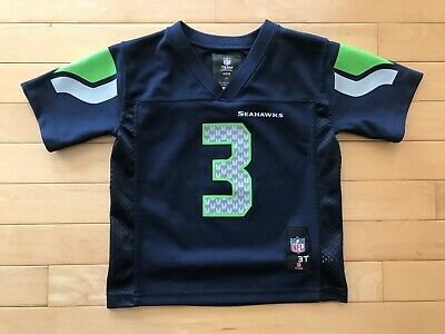 30f94396 SEATTLE SEAHAWKS RUSSELL Wilson NFL Football Jersey Toddler 3T Boys Sz Youth