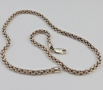 ESTATE 925 STERLING Diamond Cut ROPE Chain Necklace SOLID SILVER 925 ITALY 18 IN