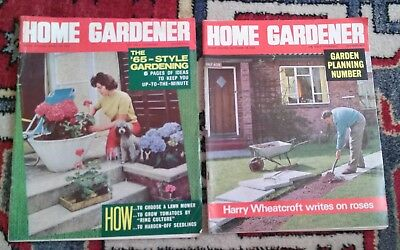 2 vintage Home Gardener weekly magazines April & Oct 1965,tatty but good read.