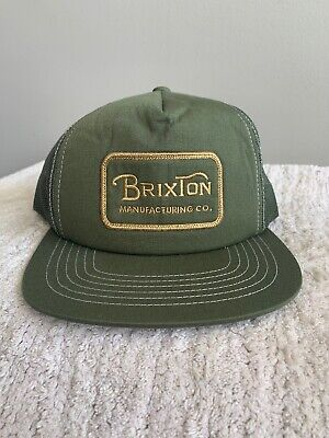 39abd2102a Brixton Manufacturing Co. baseball hat Green Patch Mesh SnapBack Trucker Hat  NWT