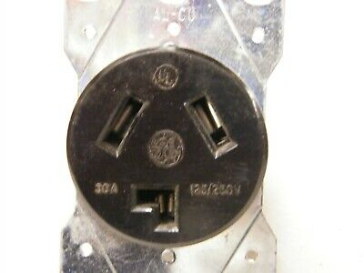 GE General Electric 30A 125/250V Hubbell 9350 Style Receptacle 10-30R,