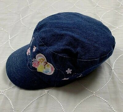 toddler girls disney princess  hat denim blue  one size  euc