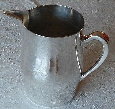 "Silver on Copper EPC-15 Large Pitcher 7"" by 8.5"" Widest 737 Grams 1.5 Quarts"
