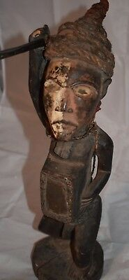 "orig $499- KONGO WITCHDOCTORS NIKISI!! GLASS EYES EARLY 1900S REAL 18"" PROV."