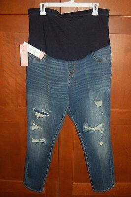03741ee149e0e MATERNITY Jeans Medium Wash Blue Size M Women OVER THE BELLY by Liz Lange  NWT